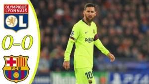 Olympique Lyon vs Barcelona 0 - 0 | UCL All Goals & Highlights | 19-02-2019